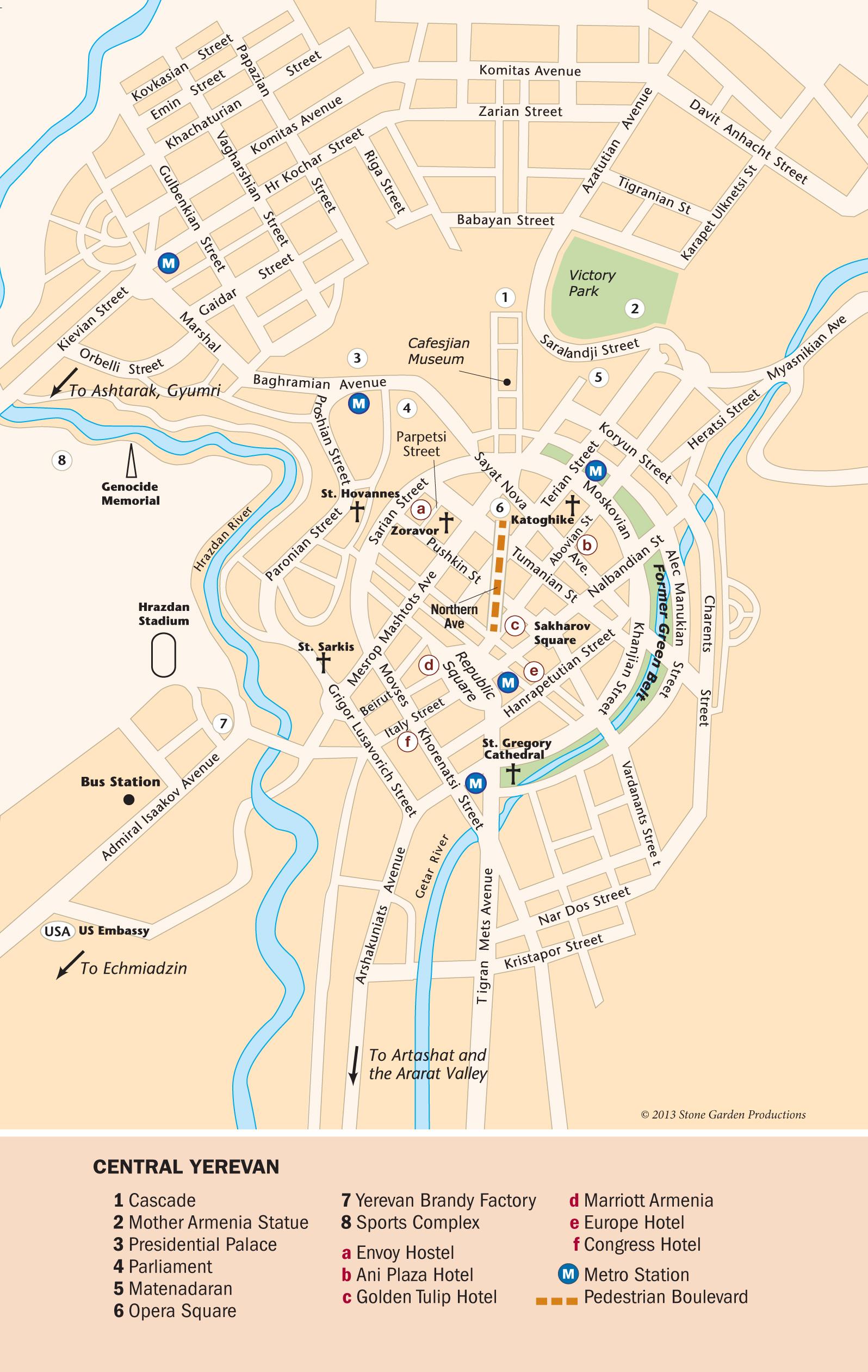 Yerevan Gyumri Map - Gyumri map